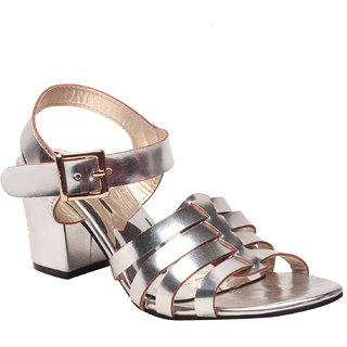 Msc Women'S Silver Platform Heel