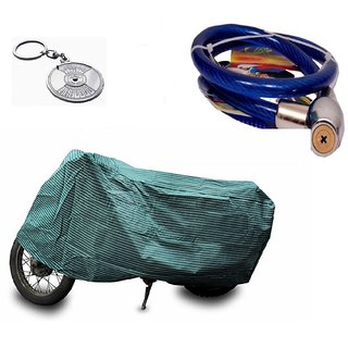 Bull Rider Bike Body Cover With Mirror Pocket For Black (Colour Black) + Free (Key Chain + Helmet Safety Lock) Worth Rs 250