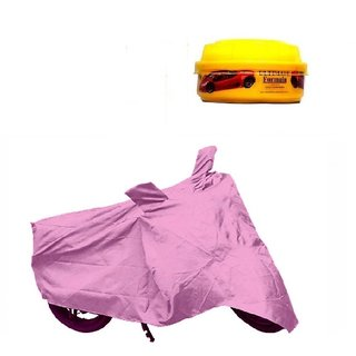 Bull Rider Bike Body Cover With Mirror Pocket For Honda Cb Unicorn 160 (Colour Purple) + Free Wax Shine Polish Worth Rs 100/