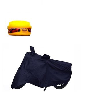 Bull Rider Bike Body Cover With Mirror Pocket For Honda Cbr250R (Colour Blue) + Free Wax Shine Polish Worth Rs 100/