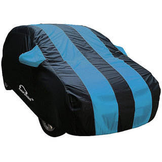 Autofurnish Stylish Aqua Stripe Car Body Cover For Datsun Go+   - Arc Aqua Blue