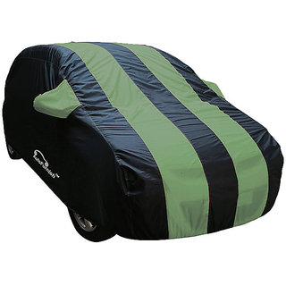 Autofurnish Stylish Green Stripe Car Body Cover For Fiat Linea   - Arc Green Blue
