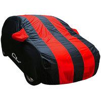 Autofurnish Stylish Red Stripe Car Body Cover For Hyundai Grand I10  - Arc Red Blue