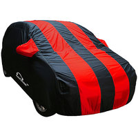 Autofurnish Stylish Red Stripe Car Body Cover For Hyundai I20   - Arc Red Blue