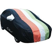 Autofurnish Stylish Tri Stripe Car Body Cover For Chevrolet Beat   - Arc Freedom Blue