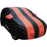 Autofurnish Stylish Orange Stripe Car Body Cover For Hyundai I20 Elite  - Arc Amber Blue