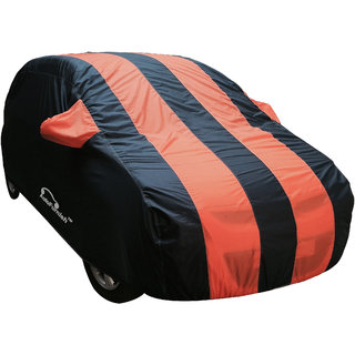 Autofurnish Stylish Orange Stripe Car Body Cover For HM Ambassador   - Arc Amber Blue
