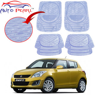 Auto Pearl - Premium Quality Heavy Duty Transparent 4Pc Pvc Rubber 6204 Clear Car Mat For - Maruti Suzuki Swift New Model