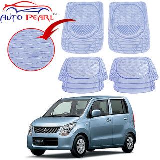 Auto Pearl - Premium Quality Heavy Duty Transparent 4Pc Pvc Rubber 6204 Clear Car Mat For - Maruti Suzuki Wagon R New Model