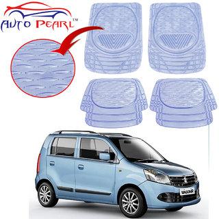 Auto Pearl - Premium Quality Heavy Duty Transparent 4Pc Pvc Rubber 6204 Clear Car Mat For - Maruti Suzuki Wagonr