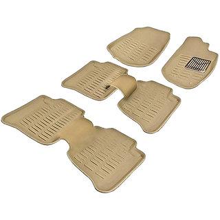 Auto Pearl - Premium Quality 3D Car Foot Mats - Toyota  Fortuner - Beige - Set of 6 Pcs