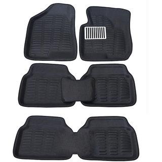 Auto Pearl - Premium Quality 3D Car Foot Mats - Toyota  Fortuner - Black - Set of 6 Pcs