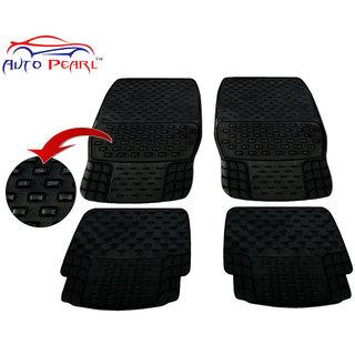 Auto Pearl - Premium Quality Heavy Duty Black 4Pc Pvc Rubber 93043 Smoke Car Mat For - Maruti Suzuki Versa