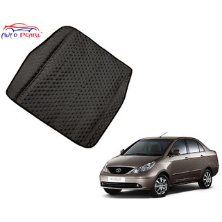 Auto Pearl - Premium Quality Ultra Thin Heavy Duty Car Floor Boot Lamination Black PVC Carpet  - Tata Indigo