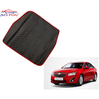 Auto Pearl - Premium Quality Ultra Thin Heavy Duty Car Floor Boot Lamination Red Black PVC Carpet  - Chevrolet Cruze