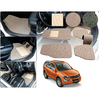 Auto Pearl - Premium Quality 2D Fabric Car Mats with PVC Coating For - Mahindra XUV 500-2015 - Beige