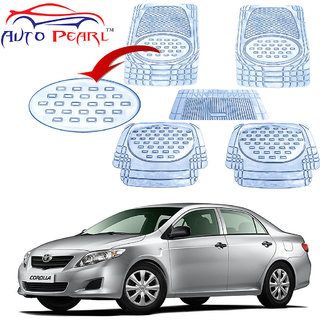Auto Pearl - Premium Quality Heavy Duty Transparent 5Pc Pvc Rubber 6604 Clear Car Mat For - Toyota Corolla