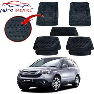 Auto Pearl - Premium Quality Heavy Duty Black 5Pc Pvc Rubber 6604 Smoke Car Mat For - Honda Crv