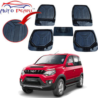Auto Pearl - Premium Luxurious Quality Heavy Duty Light Weight Black 5Pc Pvc Rubber 6255Tw Car Mat For - Renault Kwid