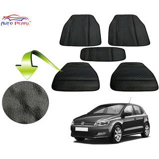Auto Pearl - Premium Quality Ultra Thin Heavy Duty Car Floor Lamination Black PVC Carpet  - Volkswagen Polo