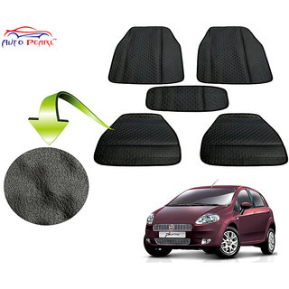 Auto Pearl - Premium Quality Ultra Thin Heavy Duty Car Floor Lamination Black PVC Carpet  - Fiat Punto