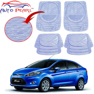 Auto Pearl - Premium Quality Heavy Duty Transparent 4Pc Pvc Rubber 6204 Clear Car Mat For - Ford Fiesta