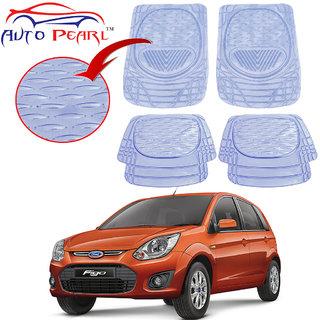 Auto Pearl - Premium Quality Heavy Duty Transparent 4Pc Pvc Rubber 6204 Clear Car Mat For - Ford Figo