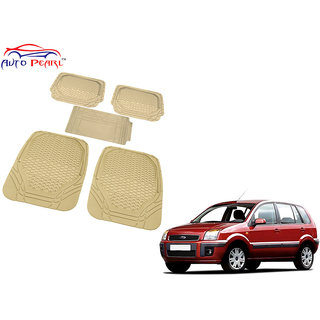 Auto Pearl - Premium Luxurious Quality Heavy Duty Light Weight Beige 5Pc Pvc Rubber 8855Tw Car Mat For - Ford Fusion