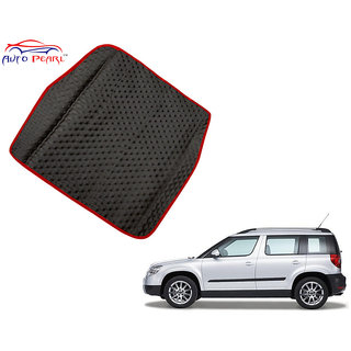 Auto Pearl - Premium Quality Ultra Thin Heavy Duty Car Floor Boot Lamination Red Black PVC Carpet  - Skoda Yeti