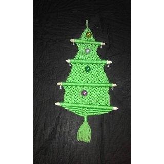 Christmas tree makrum dori room decoration