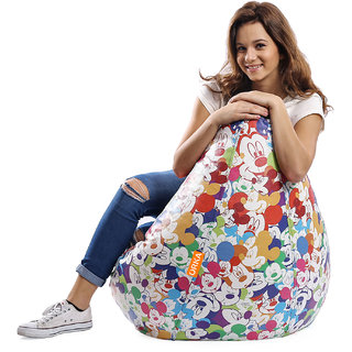 ORKA - Mickey Mouse Digital Printed Bean Bag Filled with Beans