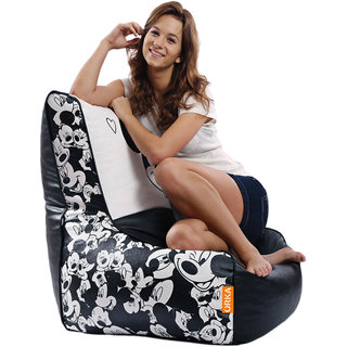 ORKA - Mickey Mouse Digital Printed Bean Chair Filled with Beans