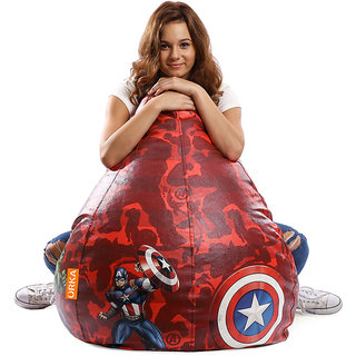 ORKA Marvel Avengers Digital Printed Bean Bag Filled with Beans