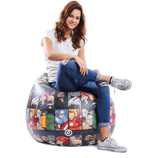 ORKA Avengers Characters Digital Printed Bean Bag Filled with Beans