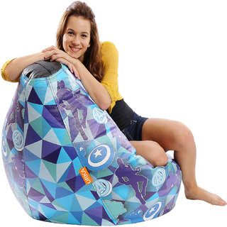 ORKA Avengers  Digital Printed Bean Bag Filled with Beans