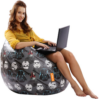ORKA Star Wars Characters Digital Printed Bean Bag Filled with Beans