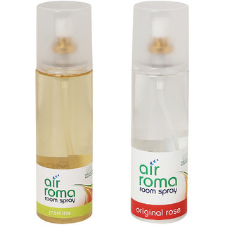 AirRoma Combo of 2 Jasmine  Original Rose Air Fresheners Sprays 200ml