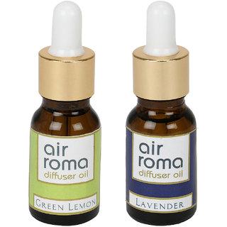 AirRoma Combo of 2 Green Lemon  Lavender Aroma Oils 15ml