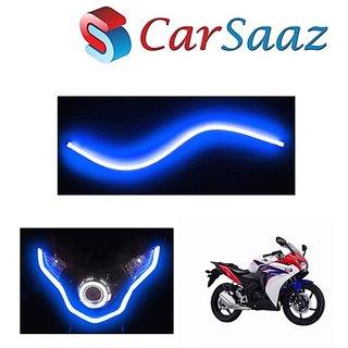 Carsaaz Flexible 30cm Bike Headlight Neon Light/Tube for   Yamaha SS 125 - Blue