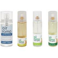AirRoma Combo Of 4, Denim Touch Car Freshener 60ml, Jasmine Air Freshener Spray 200ml, Lemon Grass Air Freshener Spray 200ml  Magic Mogra Air Freshener Spray 200ml