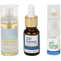 AirRoma Combo Of Aqua Lime Fresh Car Freshener 60ml  Atlantic Breeze Aroma Oil 15ml  Air Freshener Spray 200ml