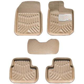 MP Car 4D Floor Mat For Tata Indig oBeige