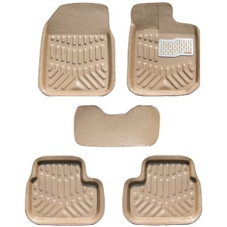 MP Car  4D Floor Mat For Toyota Etios Beige