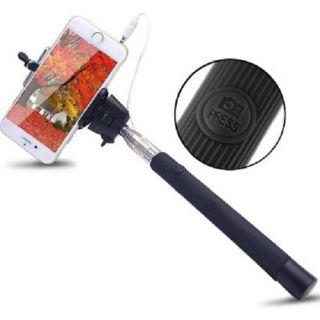 SAT Monopod Selfie Stick For Samsung galaxy Grand 2 Black