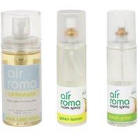 AirRoma Combo Of Green Lemon  Lemon Grass Air Freshener Sprays 200ml  Aqua Lime Fresh Car Freshener 60ml
