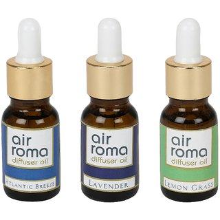 AirRoma Combo of 3 Atlantic Breeze, Lavender  Lemon Grass Aroma Oils 30ml Each