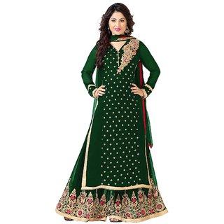 b5f85793b Buy Viha Green Designer Georgette Plazzo salwar kameez Online ...