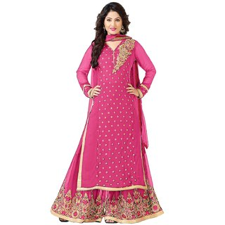 f81038bcf Buy Viha Pink Designer Georgette Plazzo salwar kameez Online ...