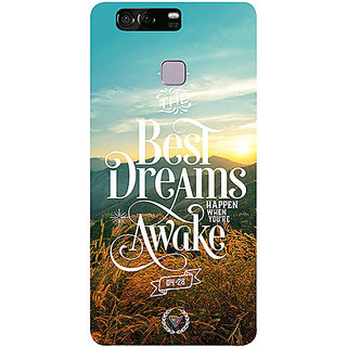 Casotec Dreams Design 3D Printed Hard Back Case Cover for Huawei P9