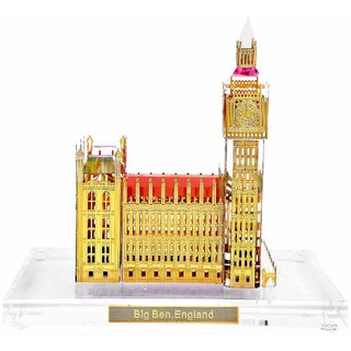 Crystal 24 Karat Gold Plated Big Ben Home Decorative Gift Souvenir Gift